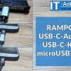 microUSB-Kabel zum USB-C-Kabel umfunktionieren mit dem Adapter von Rampow